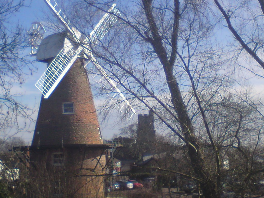 I walk past this windmill every day. It's right next to the castle I also ignore.