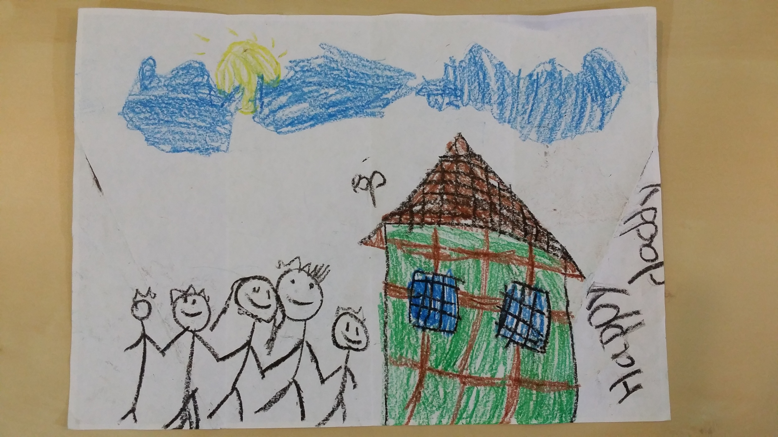 Happy Family drawing by Ethan, Jim's eldest child
