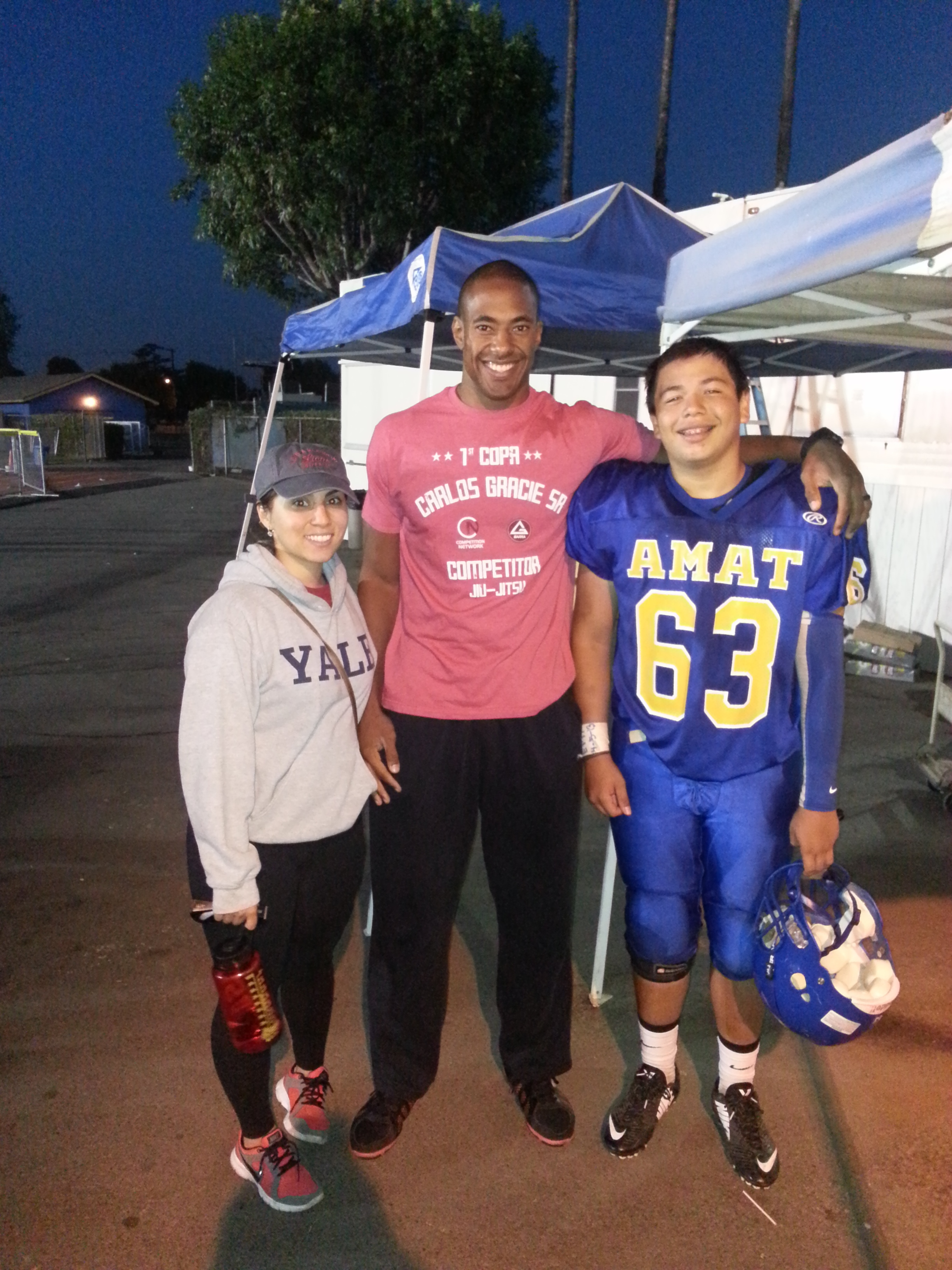 Bishop Amat Football Game with Client JJ and Wife