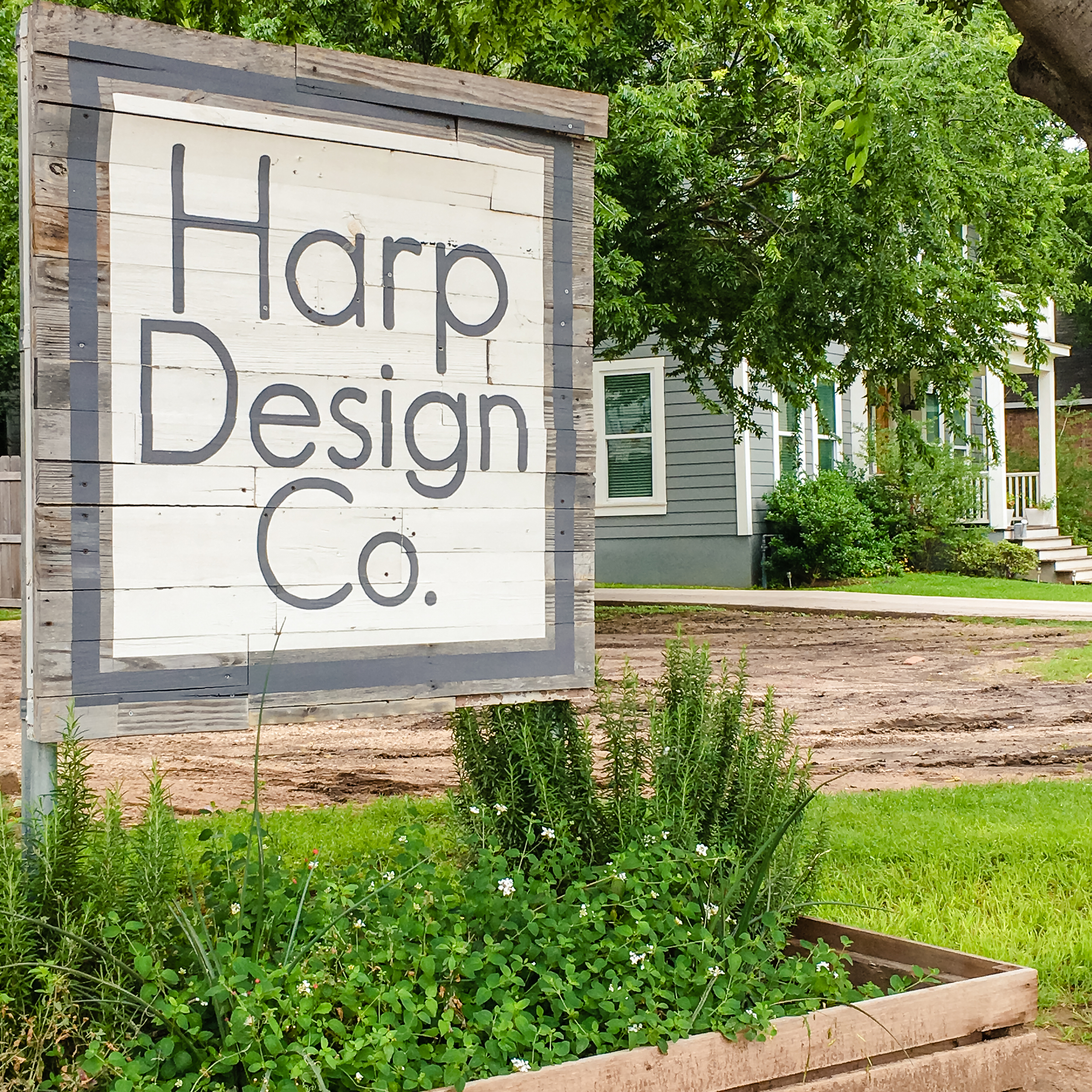 Harp Design Co. Sign and Fixer Upper House - Brightly & Co