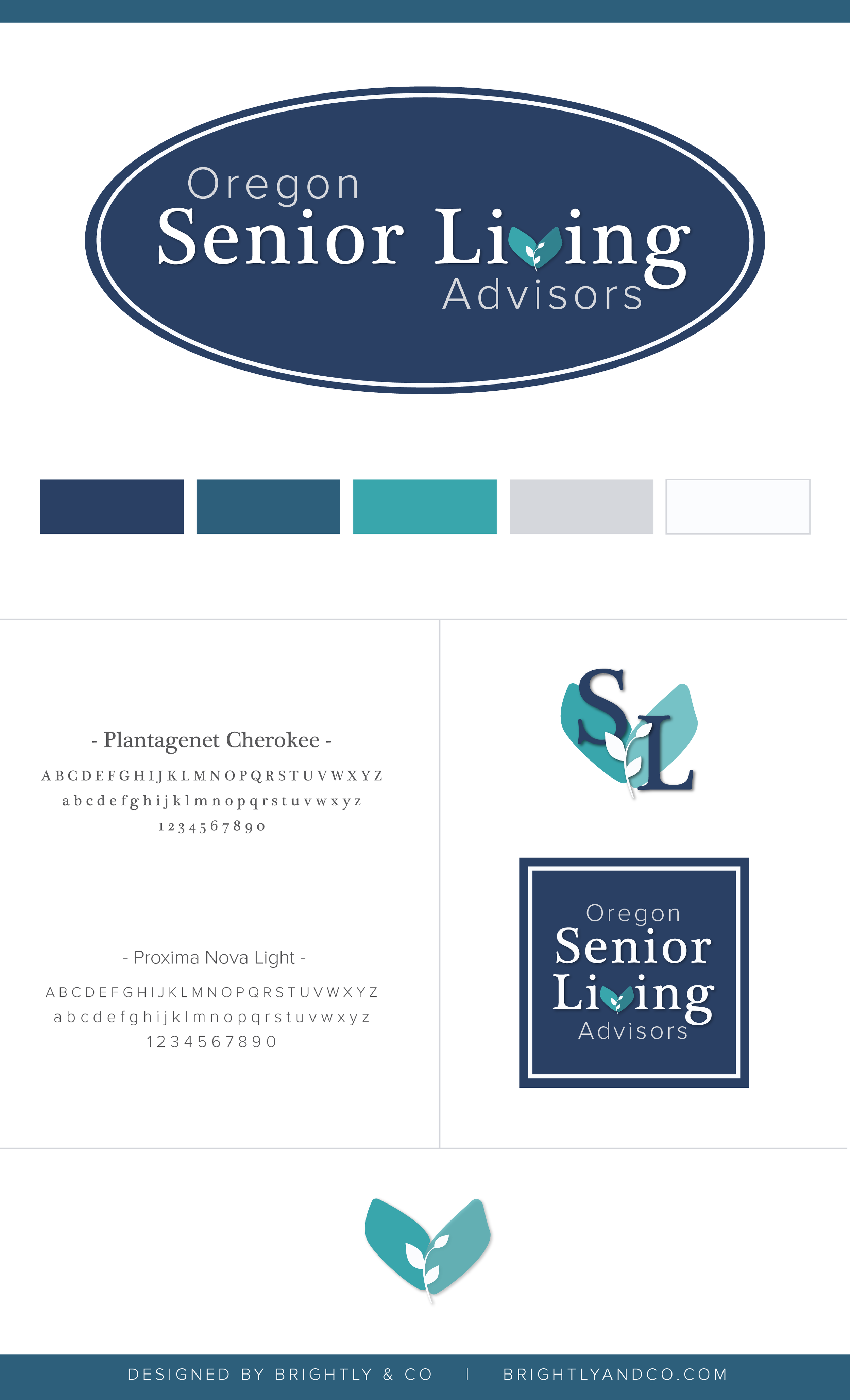 Brand Display Board for Oregon Senior Living Advisors - by Brightly & Co