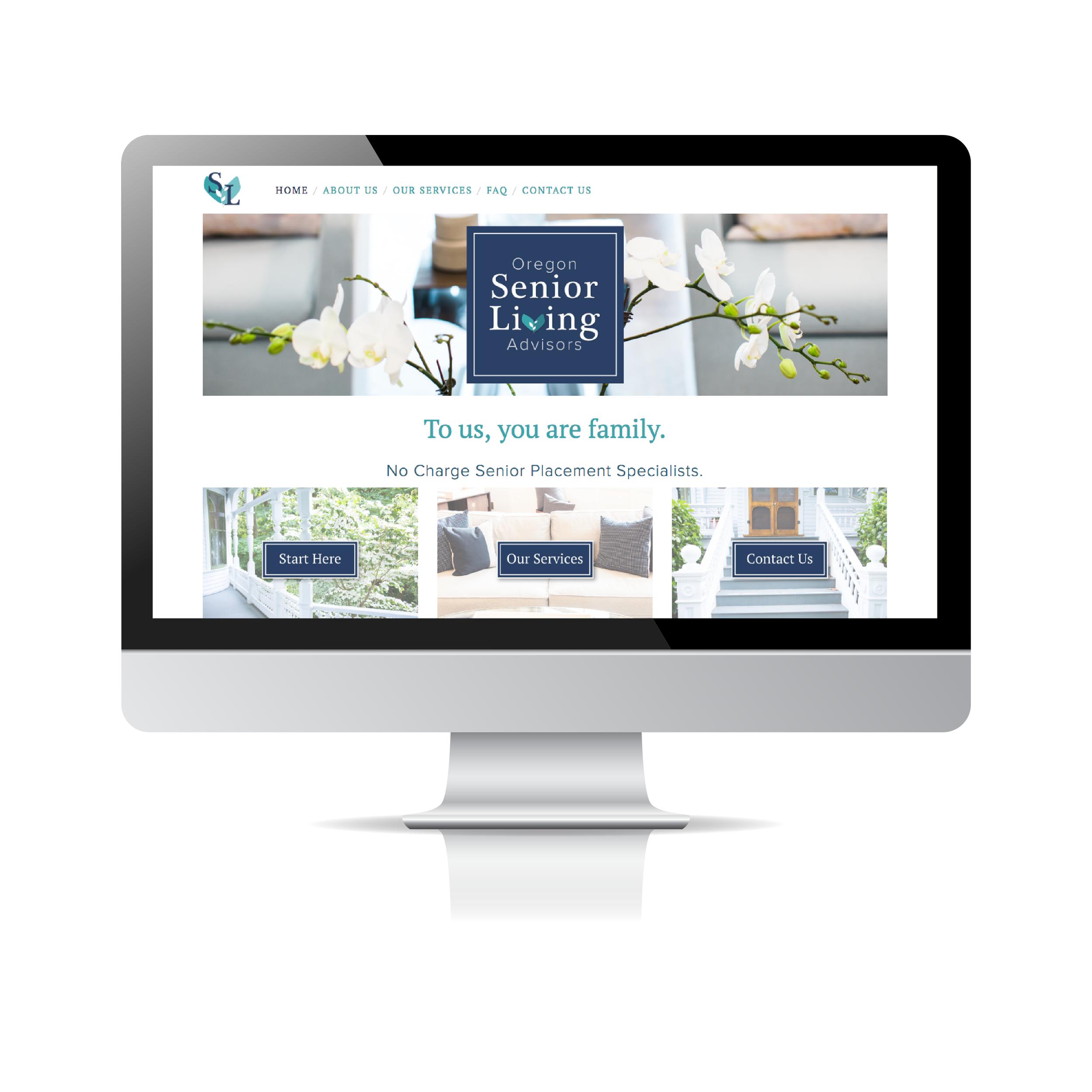 Oregon Senior Living Advisors - Website Design by Brightly & Co