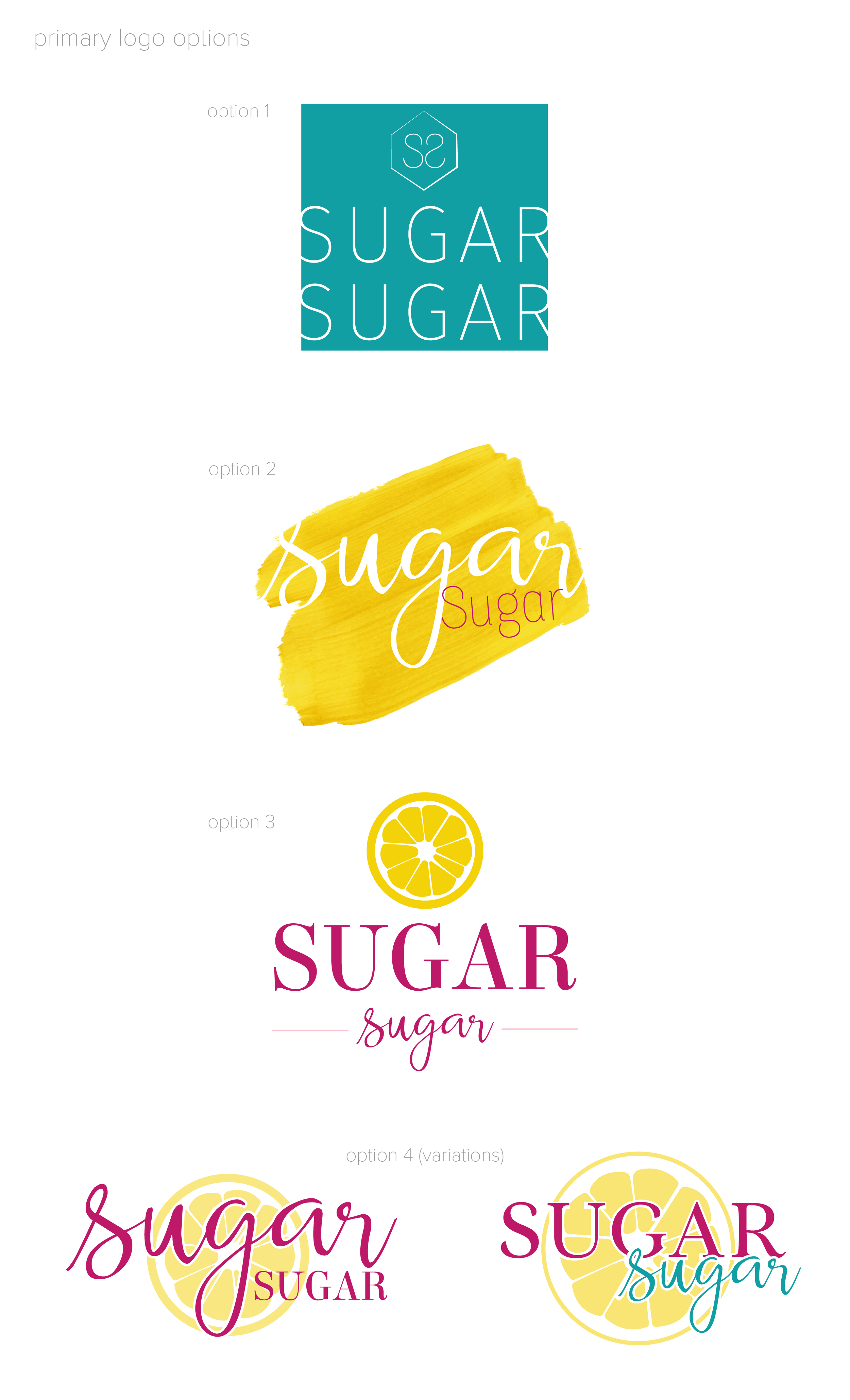 Sugar Sugar Portland Logo Concepts by Brightly & Co.