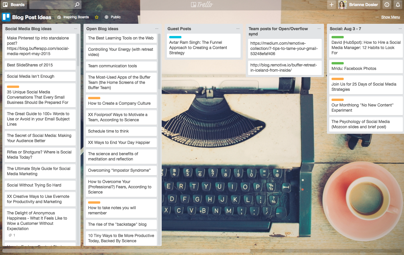 Trello Board - Brightly & Co. Trello for Business Tutuorials