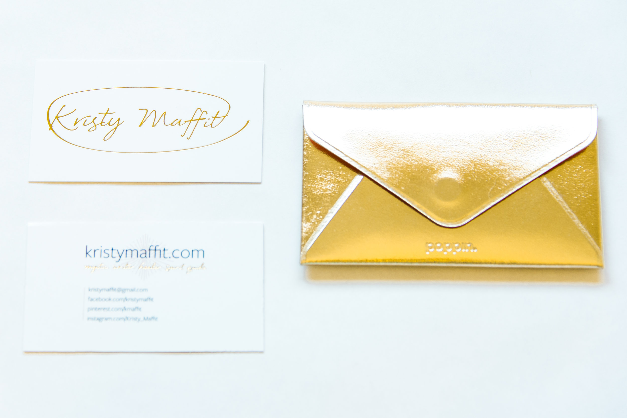 Business Cards for Kristy Maffit, created by Brightly & Co. (www.BrightlyandCo.com).