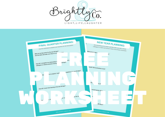 Free Download - Fall Quarter Planning Worksheet - Brightly & Co.