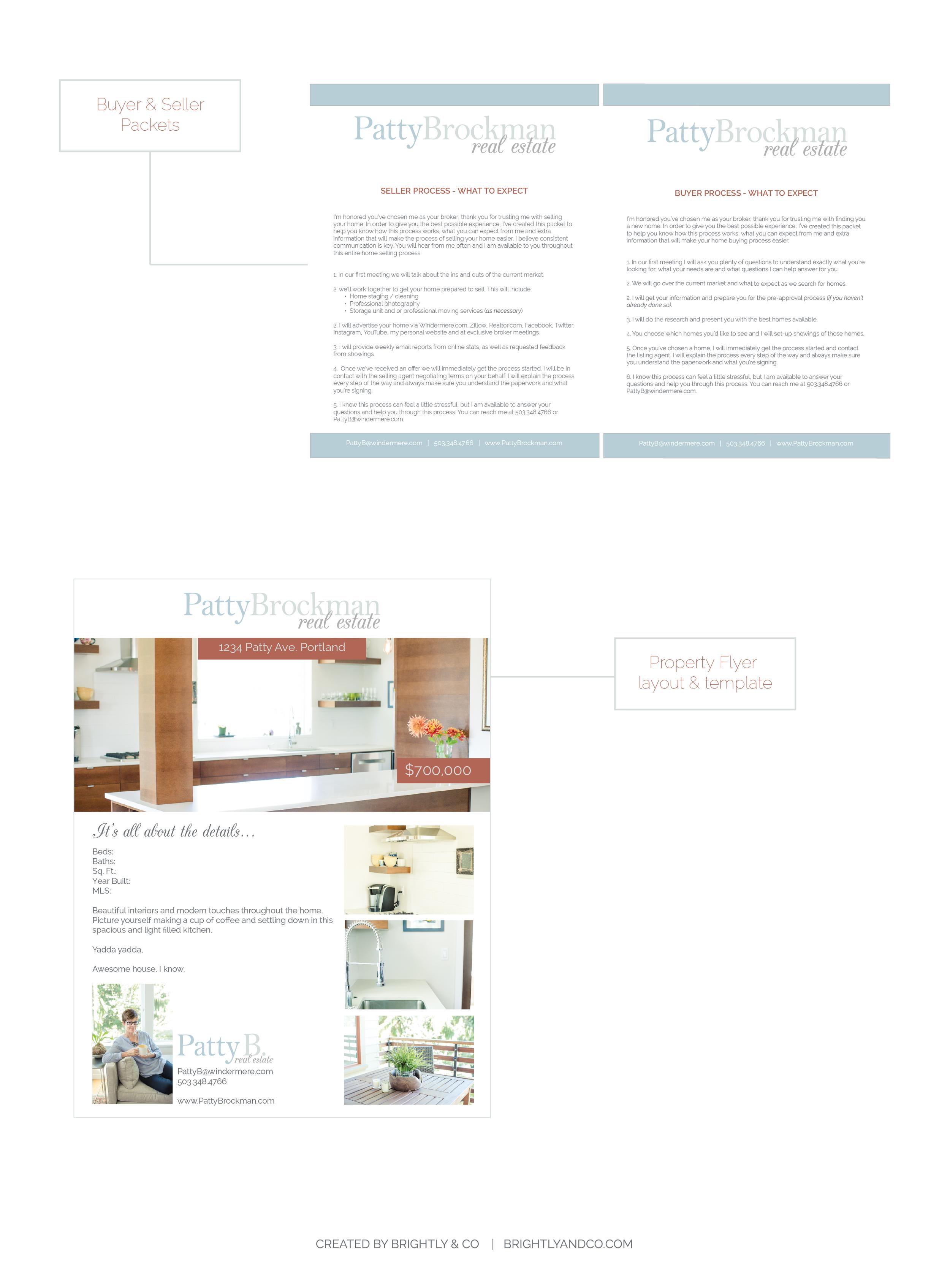 Patty Brockman Real Estate Brand Design - Business Essentials by Brightly & Co. | www.BrightlyandCo.com