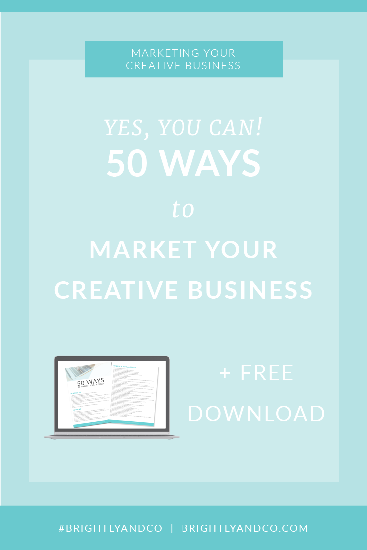 50 Ways to Market Your Creative Business Pinterest