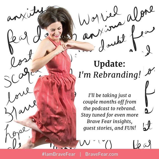 *Behind the scenes update: I am currently in the process of rebranding the Podcast and all things Brave Fear. 🙌 While that's going on I'll be taking just a couple months off from new Podcast posts...BUT upon my return, you can expect even more, guest stories, A LOT more fun (and funny moments with me), plus awesome Brave Fear insights. ⠀⠀⠀⠀⠀⠀⠀⠀⠀ While you wait to see the new rebrand - listen to past episodes (this podcast is 100% binge-listening ready) and share your favorite episodes with friends. ⠀⠀⠀⠀⠀⠀⠀⠀⠀ I'm currently taking ideas for topics you'd like to have discussed. Comment below with a topic you'd really LOVE to hear discussed on the Brave Fear podcast. 👇❤️ · · · · · ·  #dothework #beingboss #bravefearpodcast #iambravefear #beyourownboss #podcast #podcastlife #podcastforwomen #podcastersofig  #creativeentrepreneur #creativepreneur #beingboss #goaldigger #goaldiggerpodcast #risepodcast #femaleentrepreneur #womenwhohustle #womeninbiz #buildyourempire #savvybusinessowner #communityovercompetition #savvycommunity #fueledwithheart #womeninbusiness #creativelifehappylife #womensupportingwomen #BraveFear #MyBraveFearStory #theeverygirl #abmhappylife