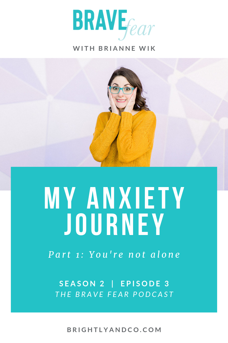 The Brave Fear Podcast with Brianne Wik - Season 2, Episode 3 - My anxiety journey Part 1 - You're not alone