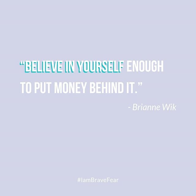 """Believe in yourself enough to out money behind it."" ⠀⠀⠀⠀⠀⠀⠀⠀⠀ When it comes to investing in ourselves, it's a lot less about the actual money or time (that's usually the excuse), but it has everything to do with what we believe about ourselves. ⠀⠀⠀⠀⠀⠀⠀⠀⠀ Repost this quote and go listen to the latest episode (if you haven't already). You can listen in on Spotify, Stitcher, iTunes or my Blog! 🙌❤️"