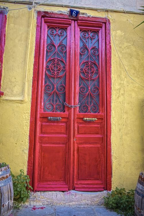 Fresh painted door