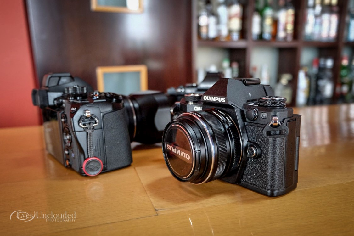 Side view vs. the E-M1 reveals the difference the grip makes
