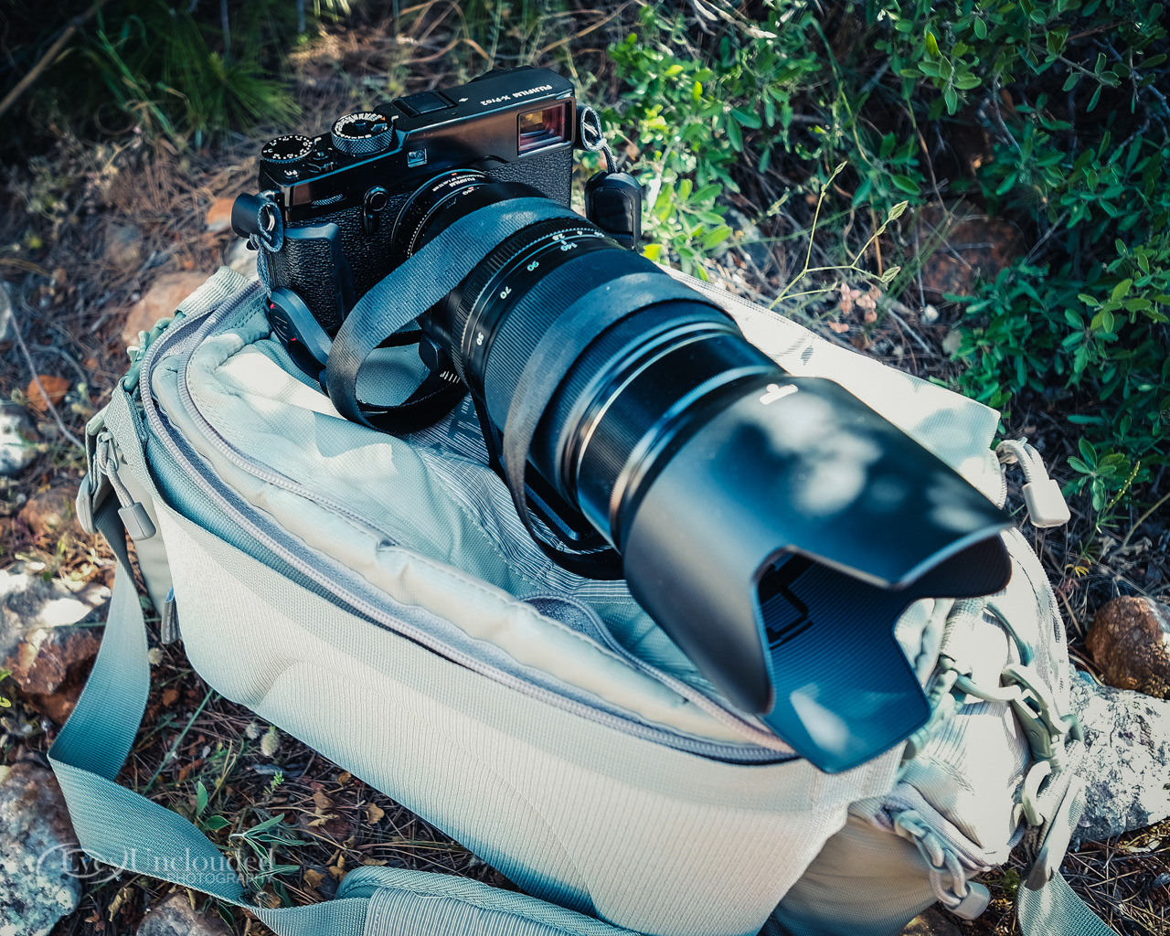 Tools of the trade: the X-Pro2 with the XF 50-140mm f/2.8 and the XF 1.4X TC