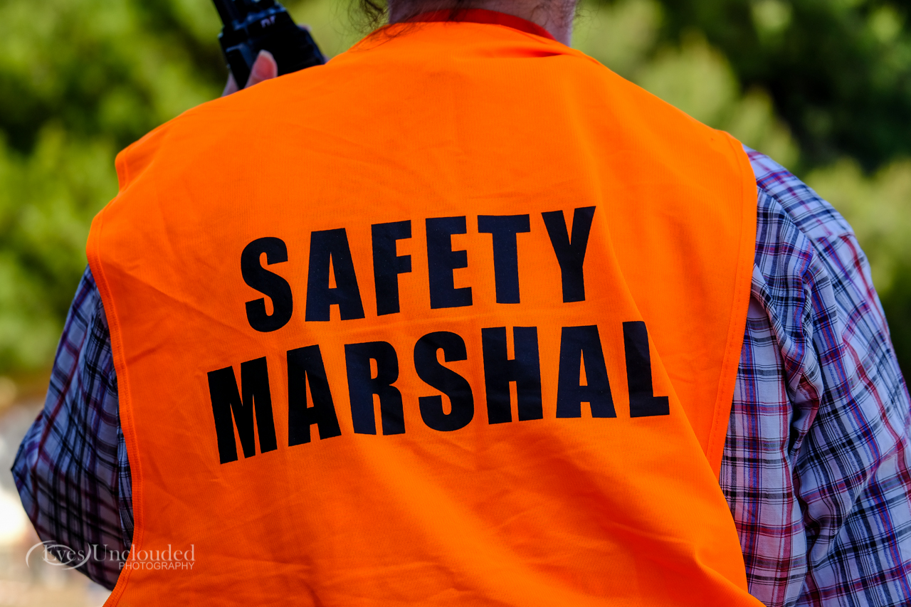 Always listen to the safety marshalls when on a race event; don't be a dork, they are there so you can enjoy the race.