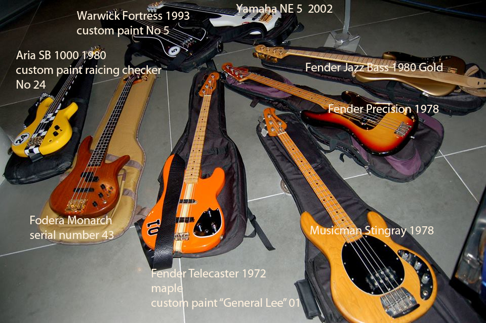 For reference, here is a photo from John Grigoriou, with bass descriptions included