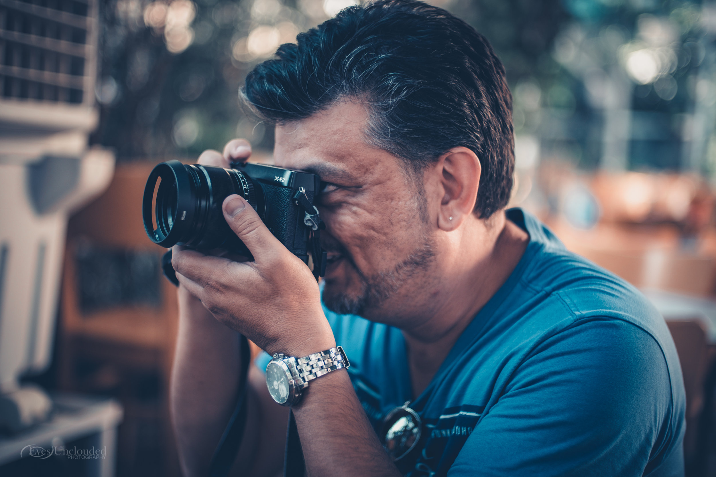 Ioannis having parted with the Lens Turbo, finds solace in the Fujinon 56mm f1.2