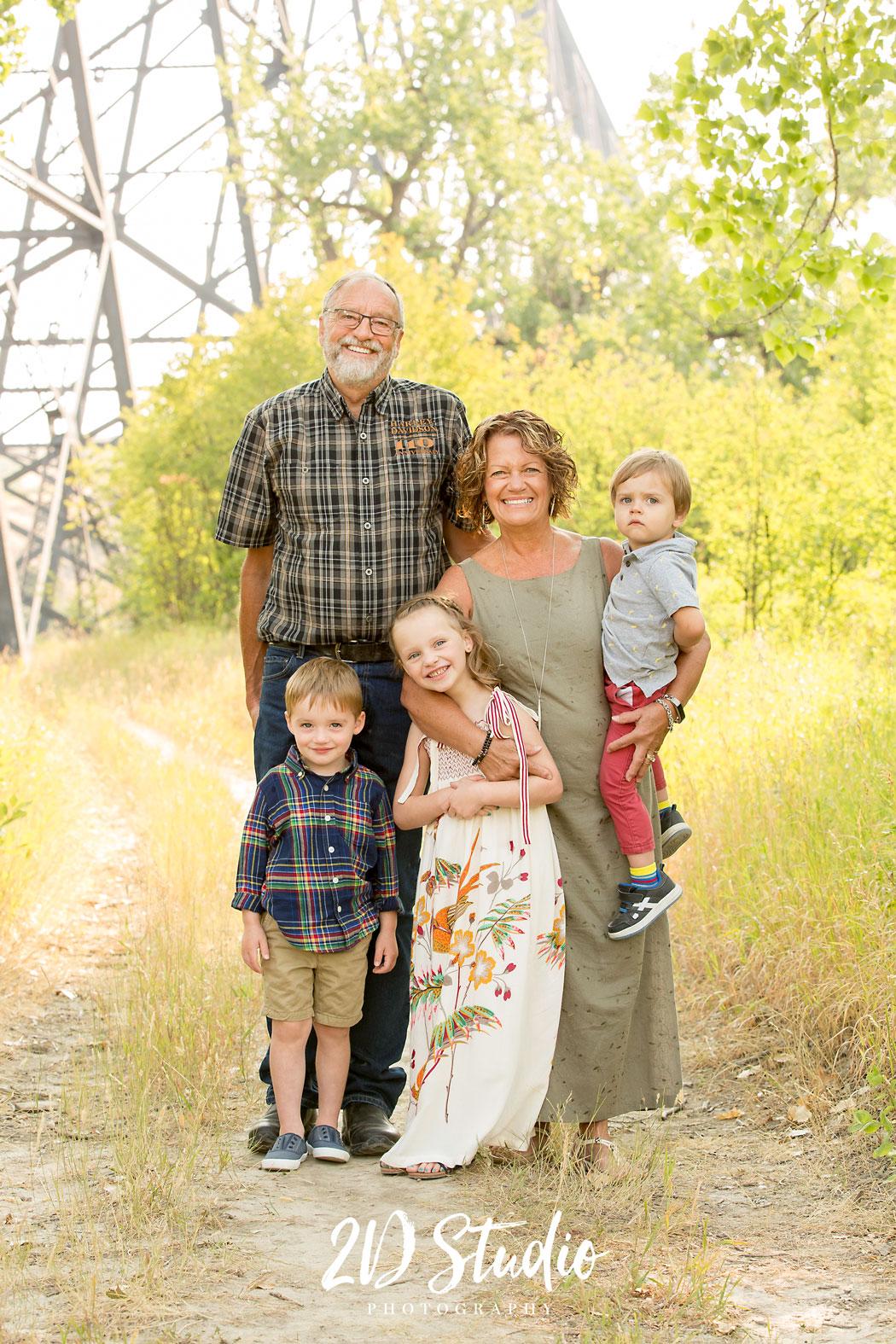 Grandparents Grandchildren Professional Portraits