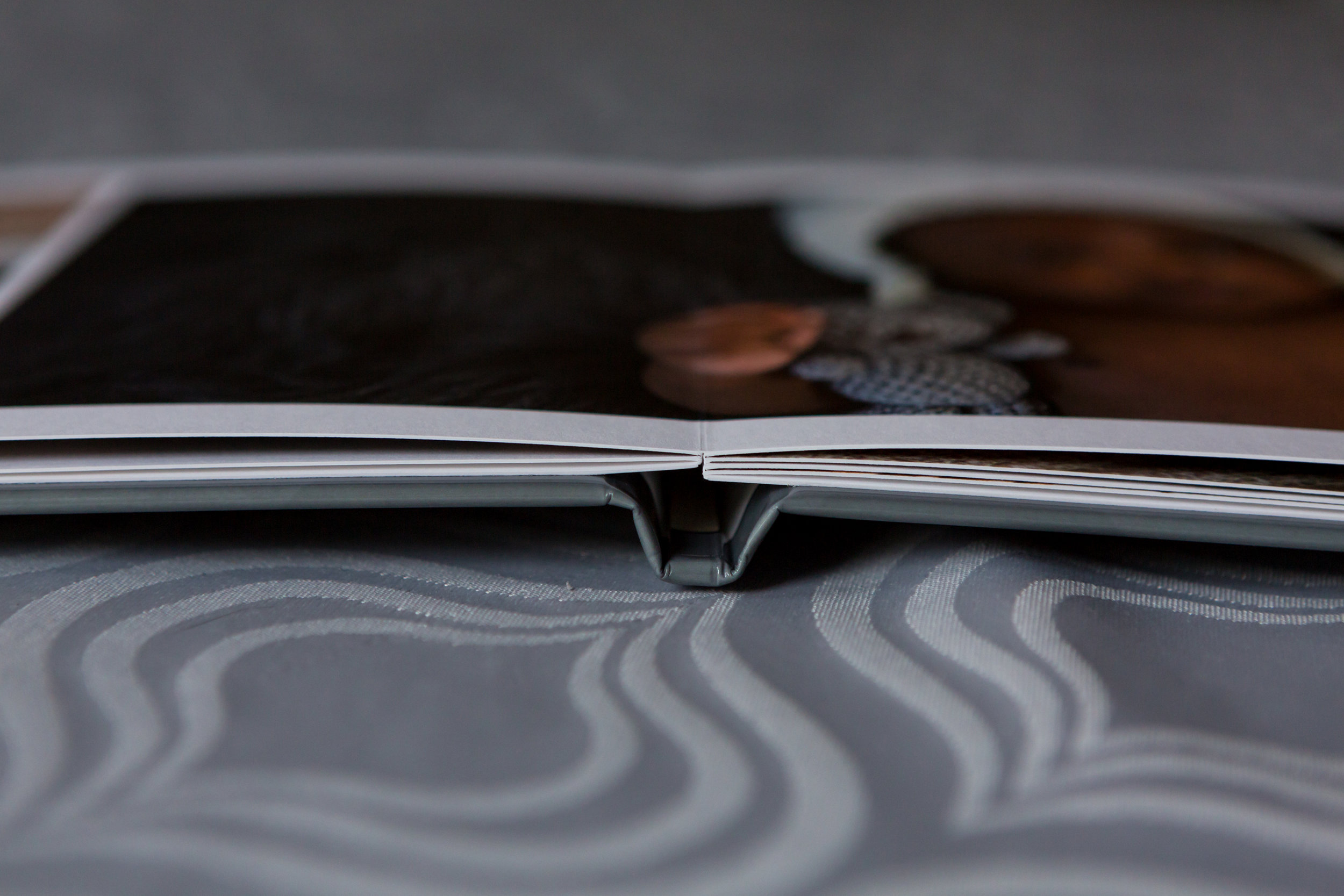 Lay Flat, Thicker Pages (Matte Paper Shown)