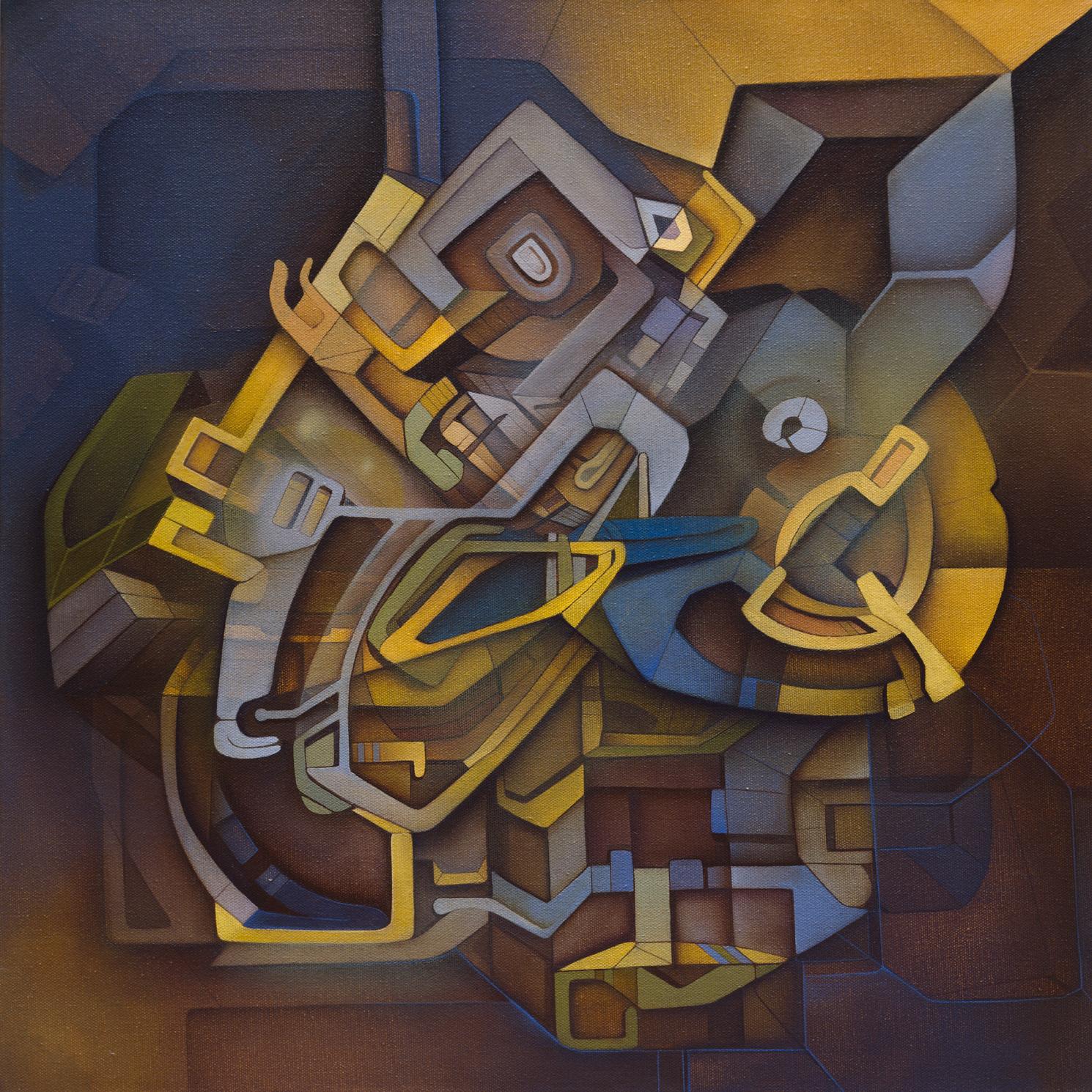 """WBGB"" Acrylic on Canvas, 20 in. x 20 in."