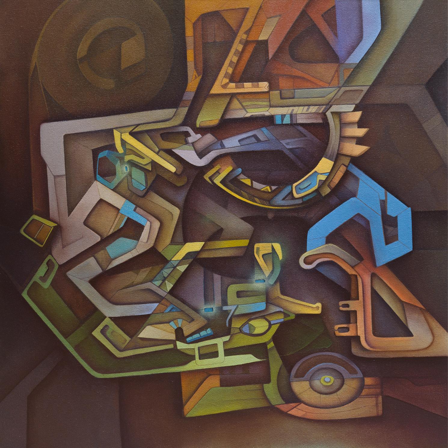 """WBGR"" Acrylic on Canvas, 20 in. x 20in."