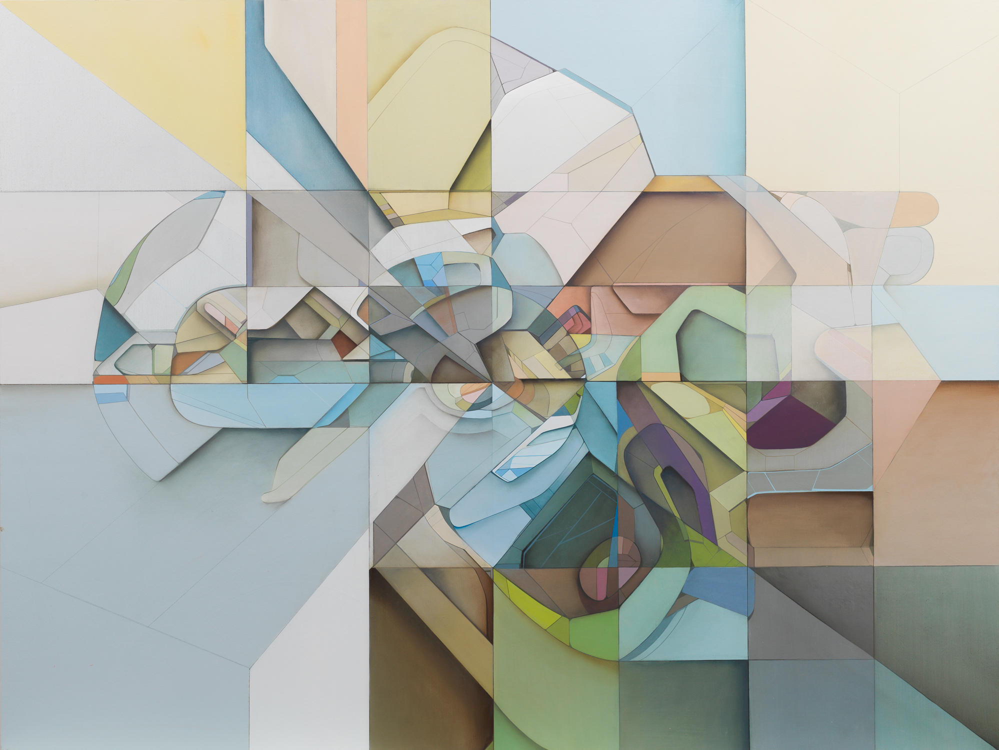 Lost Grid M28 - 42in. x 48in. Acrylic on Panel (2012)