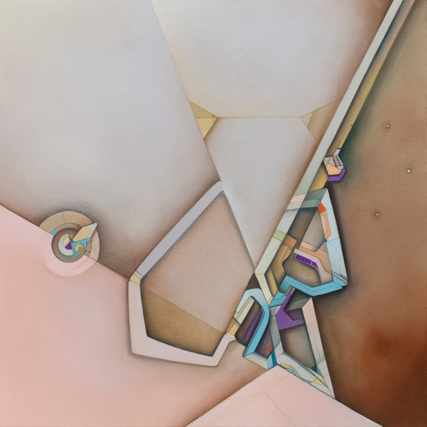 Capable Folds - Acrylic on Canvas 24 in. x 24 in. (2011)