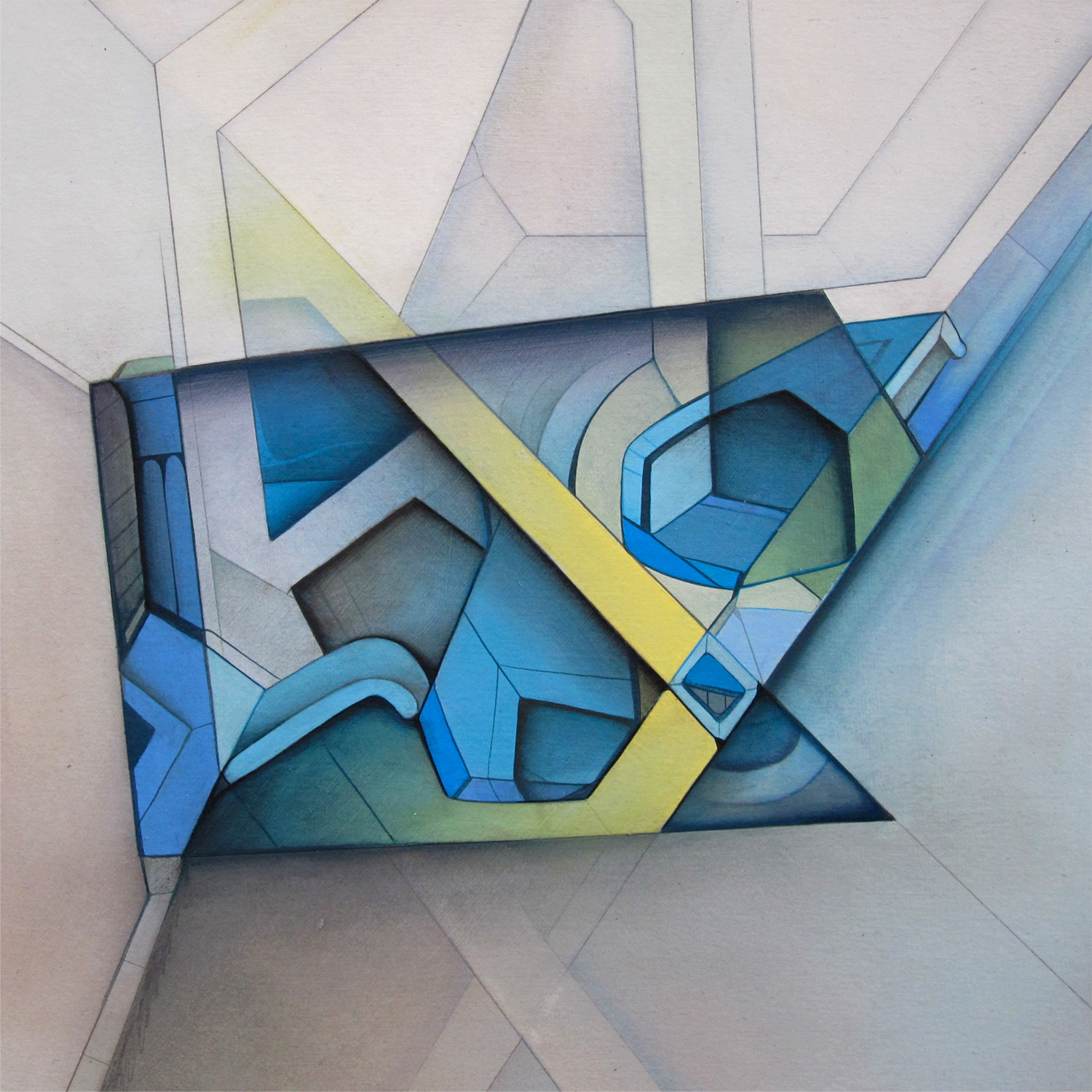Past Continuous B - Acrylic on Panel 7 in. x 7 in. (2011)