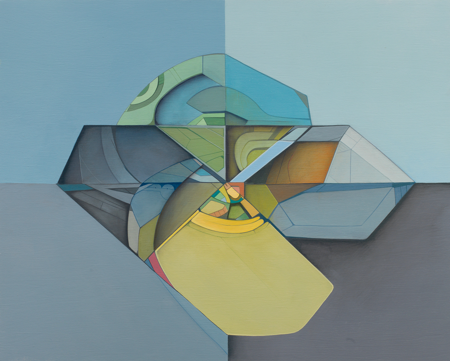Transition Form 0975 - Acrylic on Panel 16in. x 20in. 2012