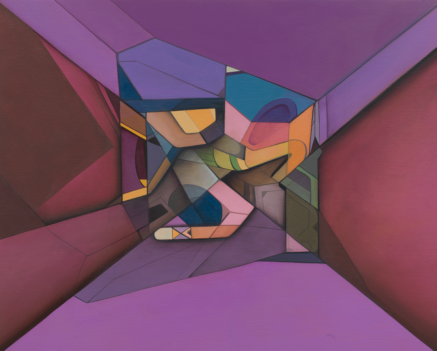 Transition Form 9586 - Acrylic on Panel 16in. x 20in. 2012