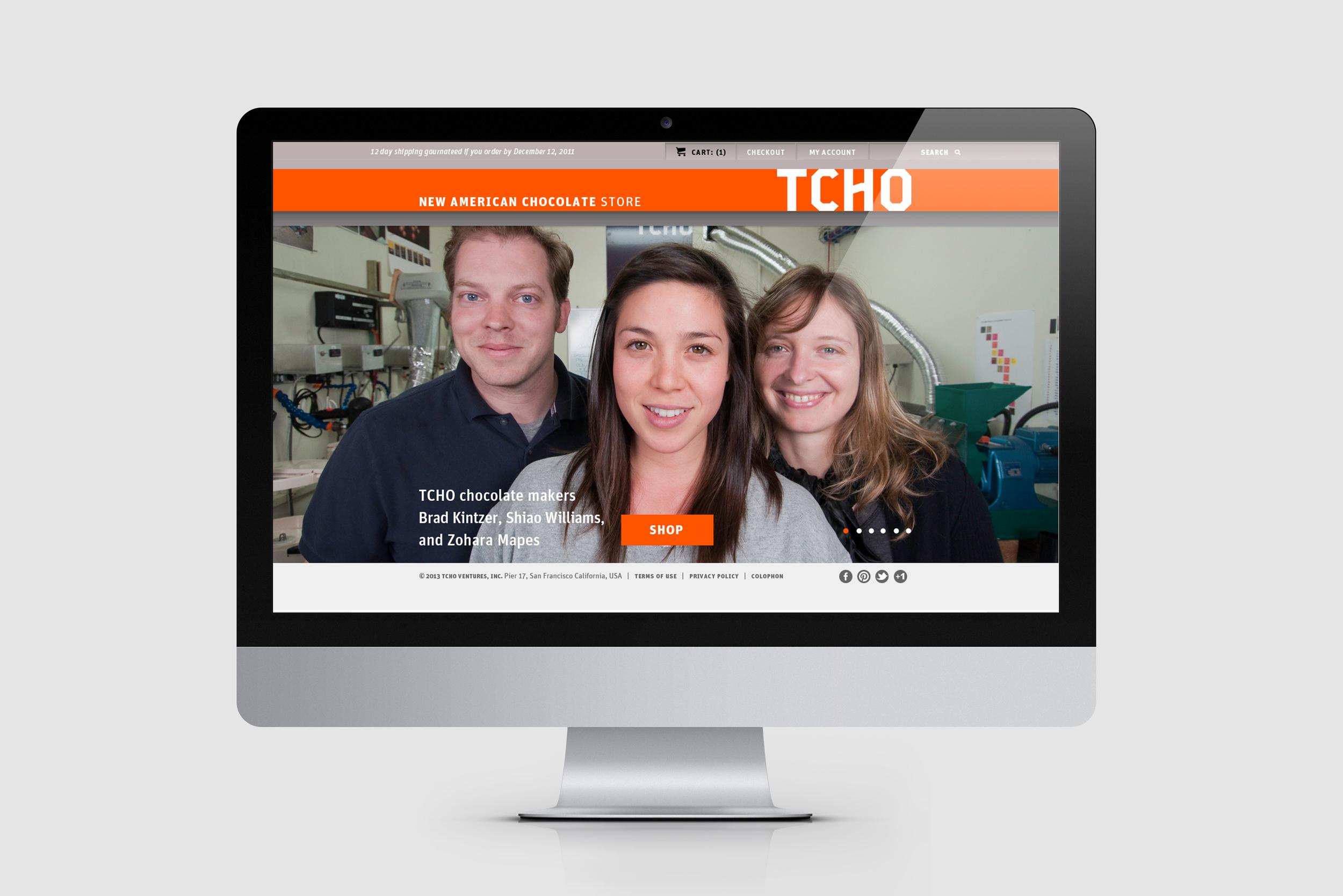 TCHO Brandpage Website