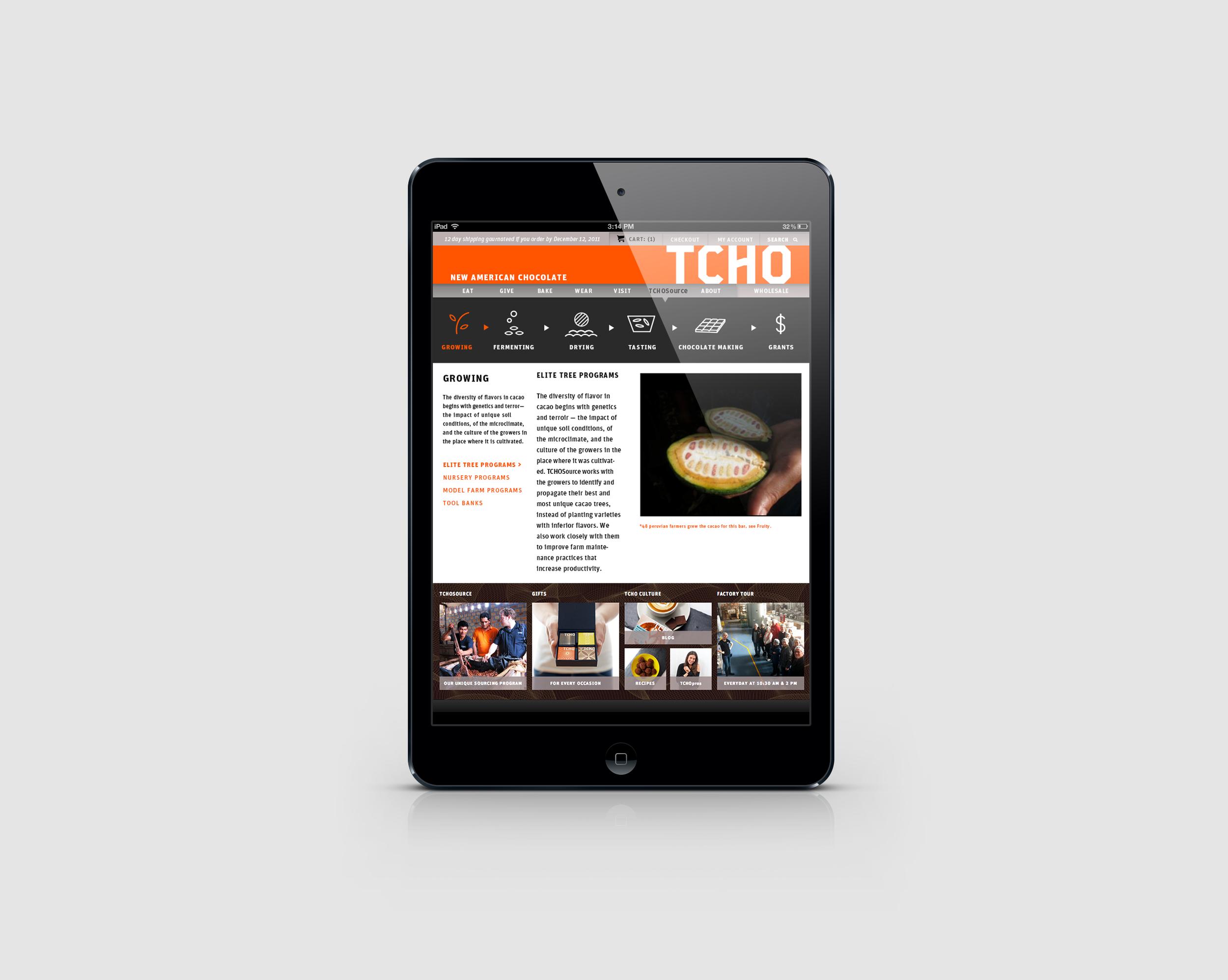 TCHOSource Website IPad