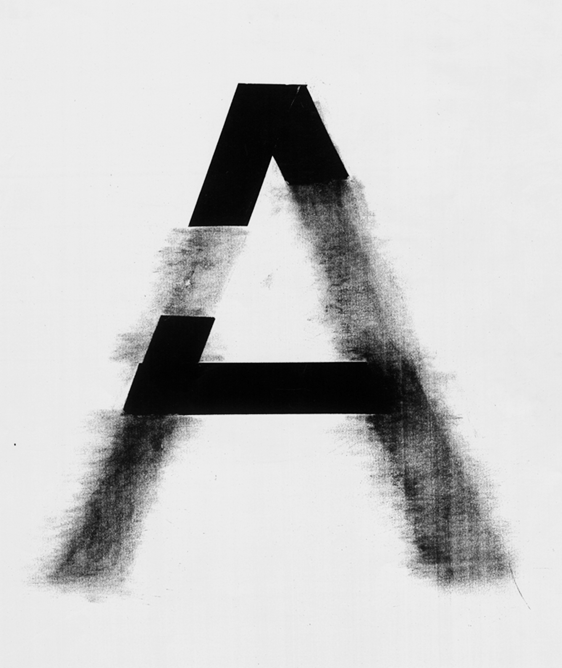 LETTER EXPLORATION, MADE WITH CUTOUT PAPER AND CHARCOAL