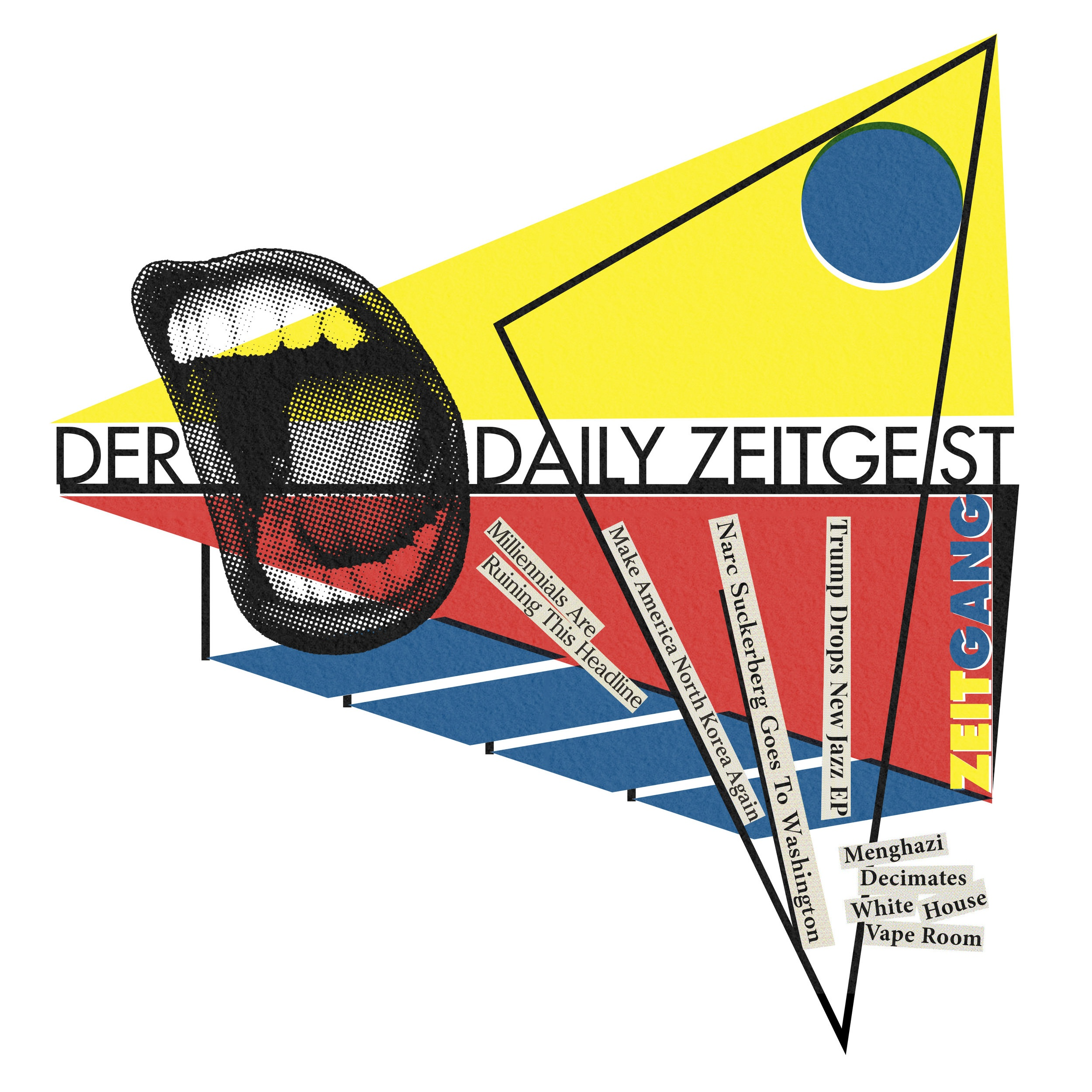Typographic t-shirt design for The Daily Zeitgeist