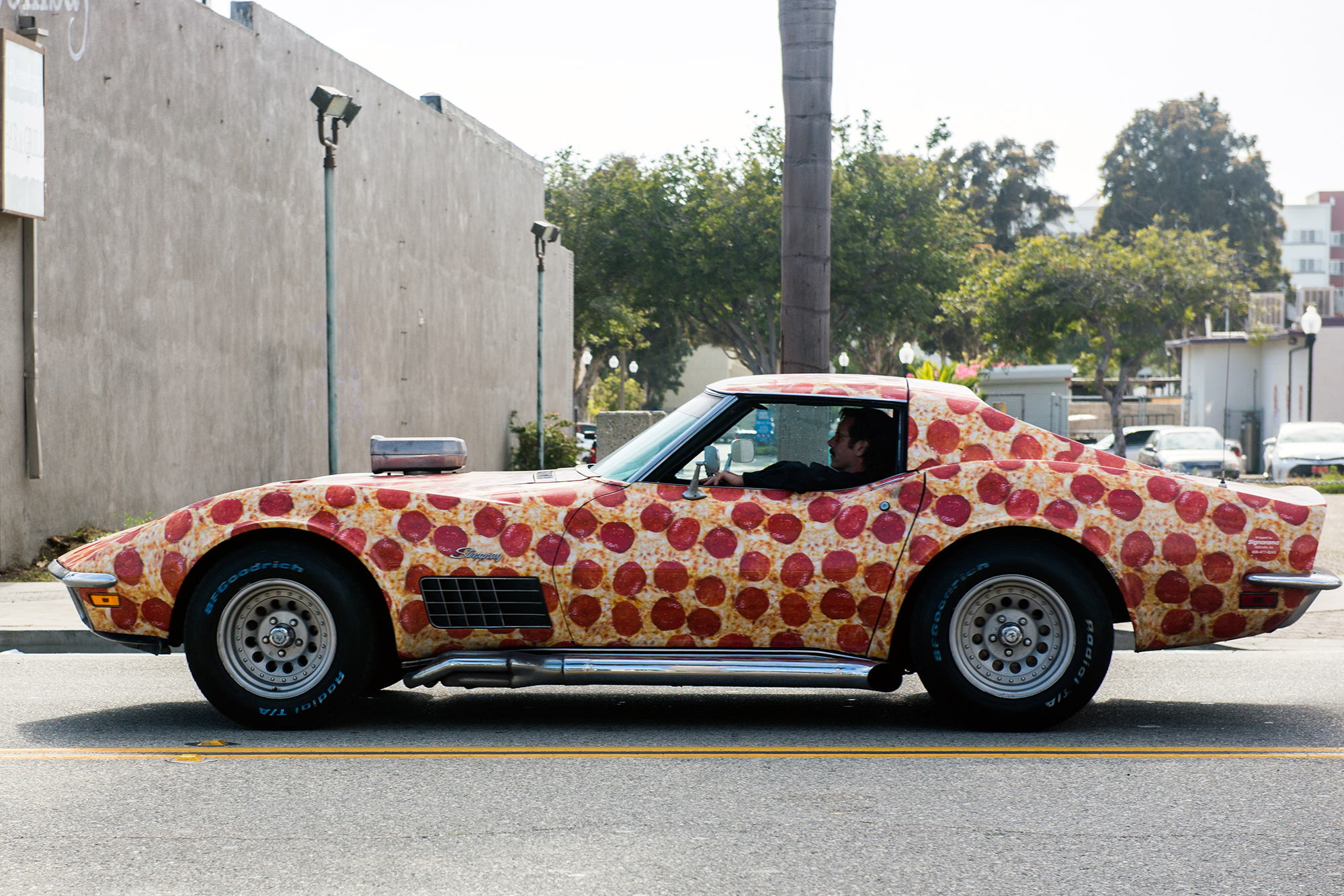 And last but not least, the incredible Sting Ray Corvette, covered in pepperoni pizza. AMAZING.