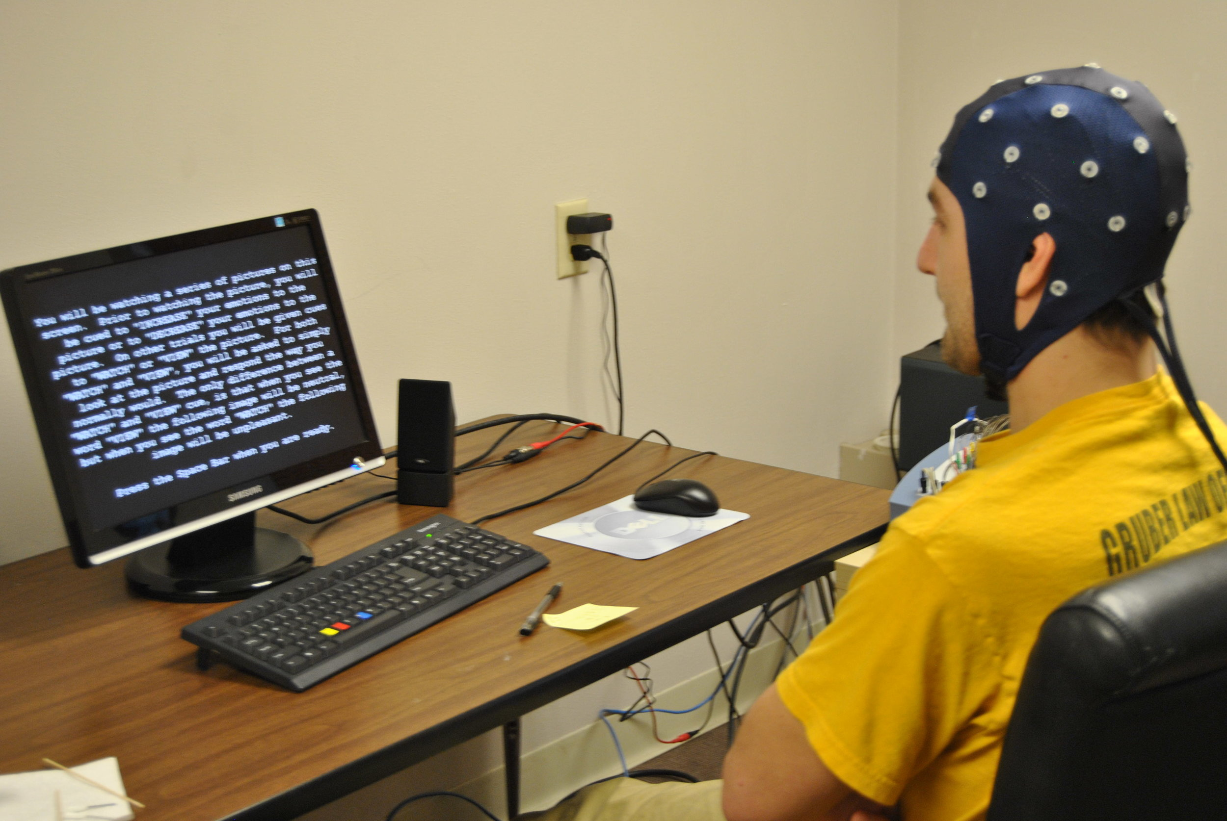 Testing out the EEG Cap