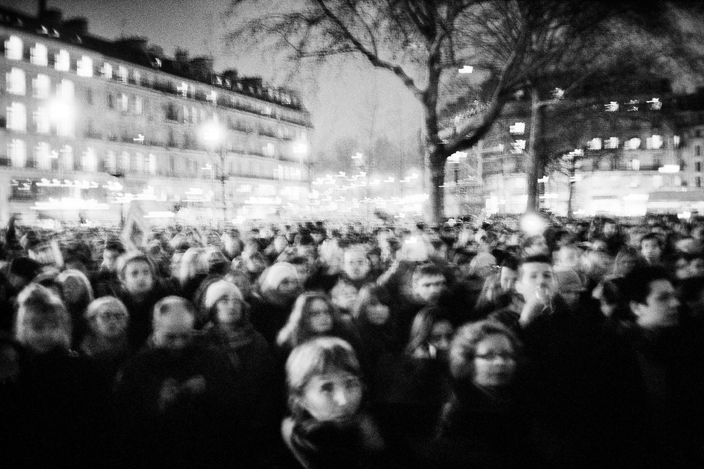 Place de la République 7 janvier 2015, Paris