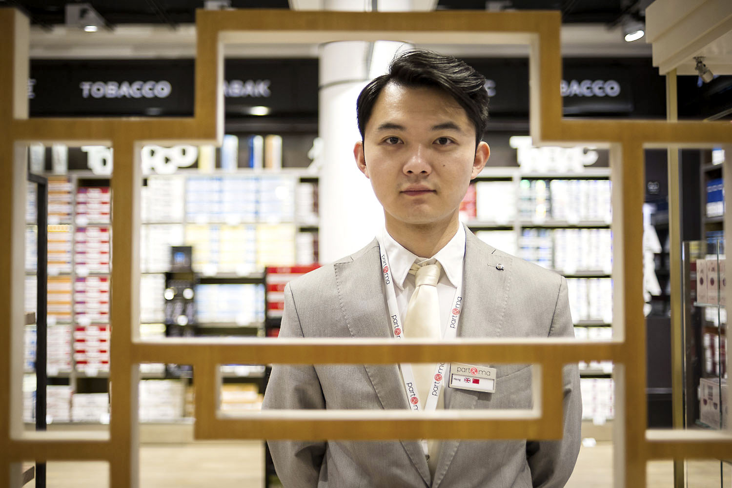 Pop-up store du groupe Japan Tobacco International  Terminal LSM4 Roissy Charles de Gaulle