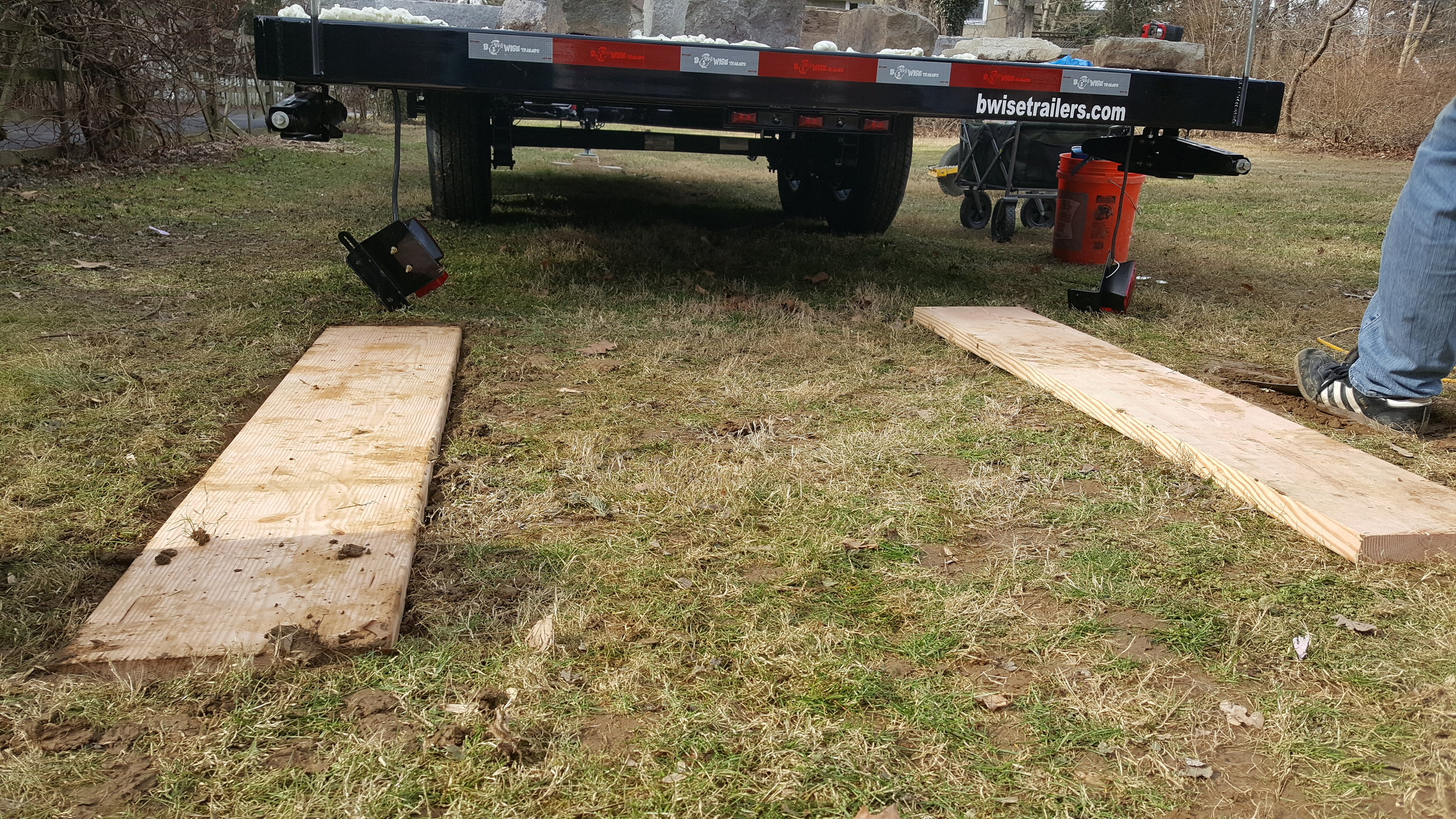 2 in. x 12 in. x 12 ft. Better Prime Douglas Fir Board - we cut these in 5 foot lengths to put under the wheels.