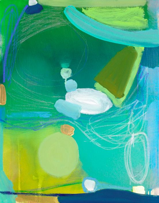 green land     16 x 20 canvas