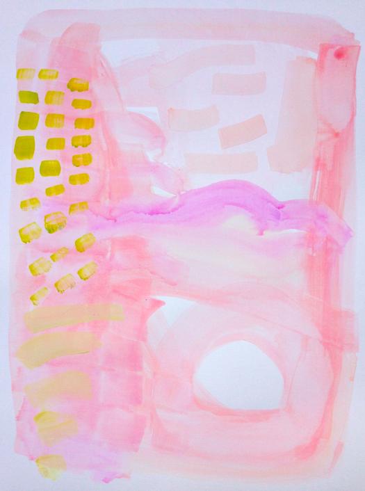 pink land     18 x 24 paper