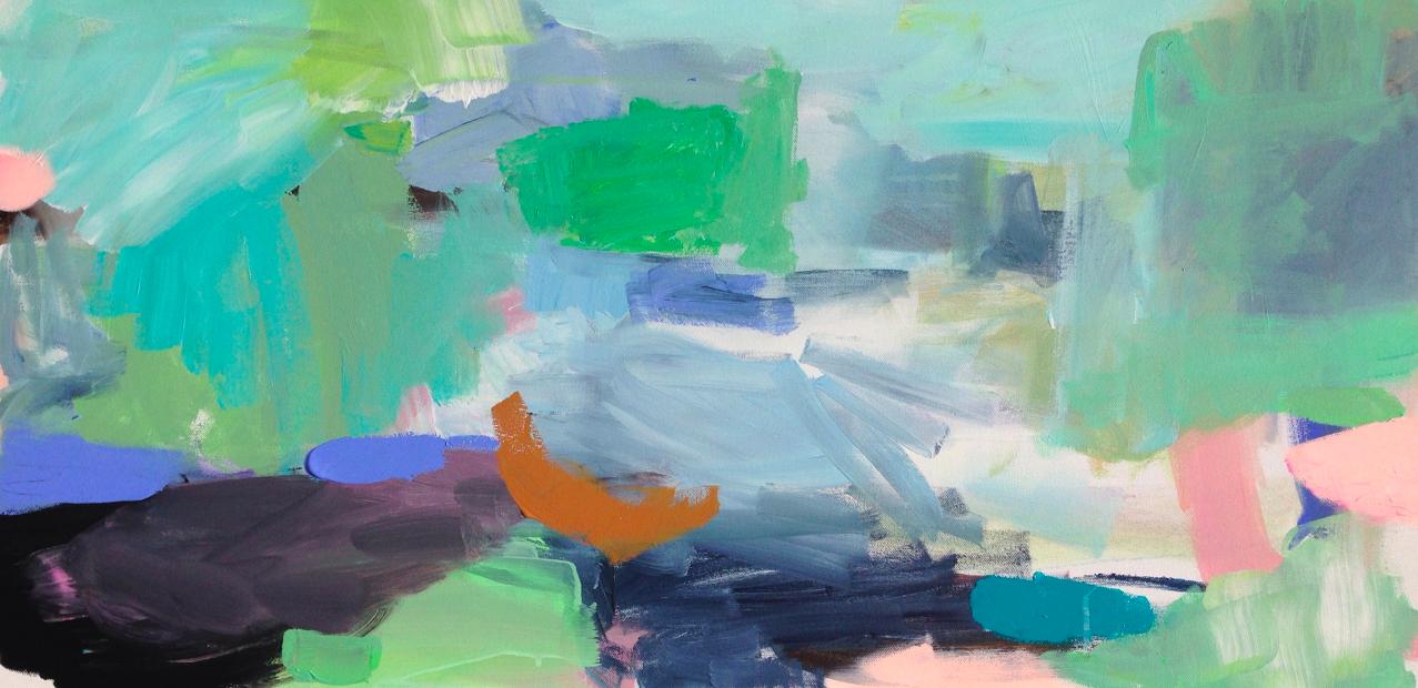 beach landscape     18 x 36 canvas