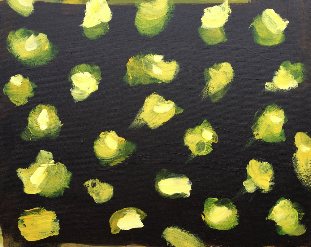 lemons and leaves     16 x 20 canvas