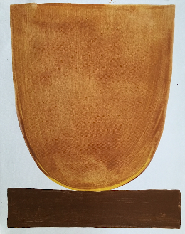 Husk Bowl    16 x 20 canvas paper