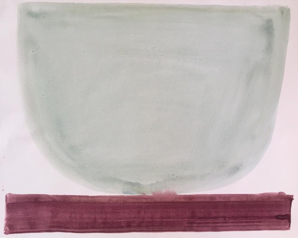 Robin's Egg Bowl     16 x 20 canvas paper