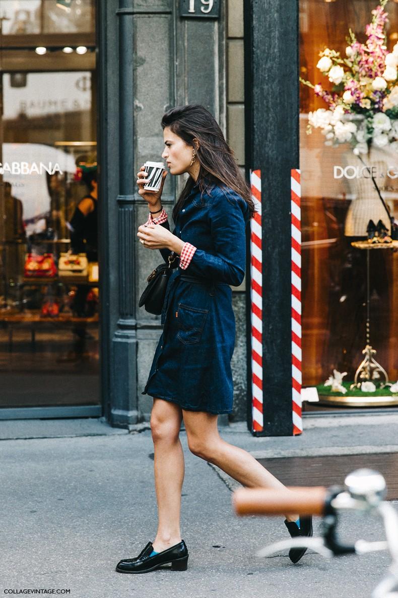 MFW-Milan_Fashion_Week-Spring_Summer_2016-Street_Style-Say_Cheese-Alexandra_Codihna-Denim_Dress-Loafers--790x1185.jpg