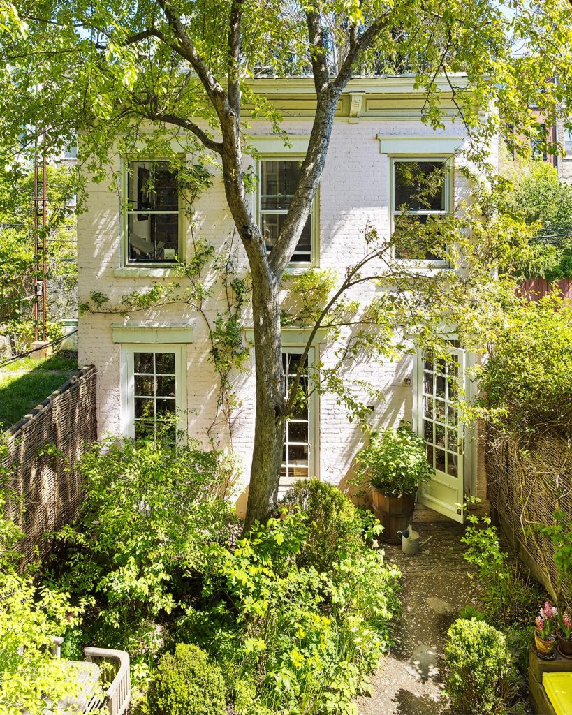 miranda-brooks-brooklyn-home-townhouse-backyard-new-york-city-landscape-design-garden-tree-painted-white-brick-facade-exterior-819x1024.jpg