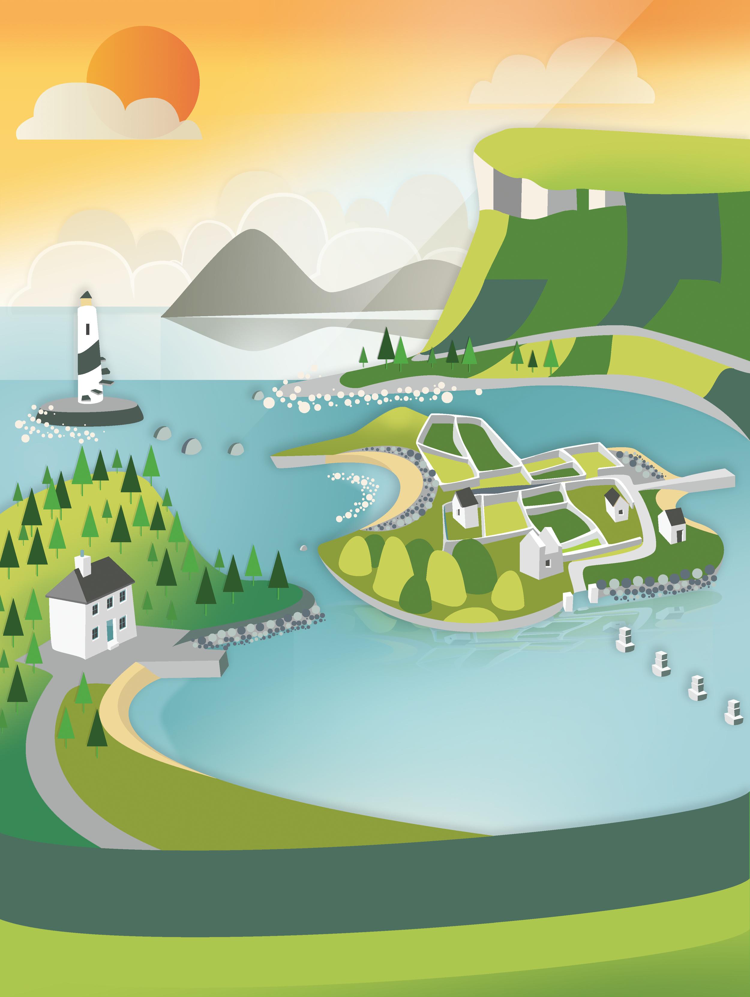 Sligo Bay Illustration
