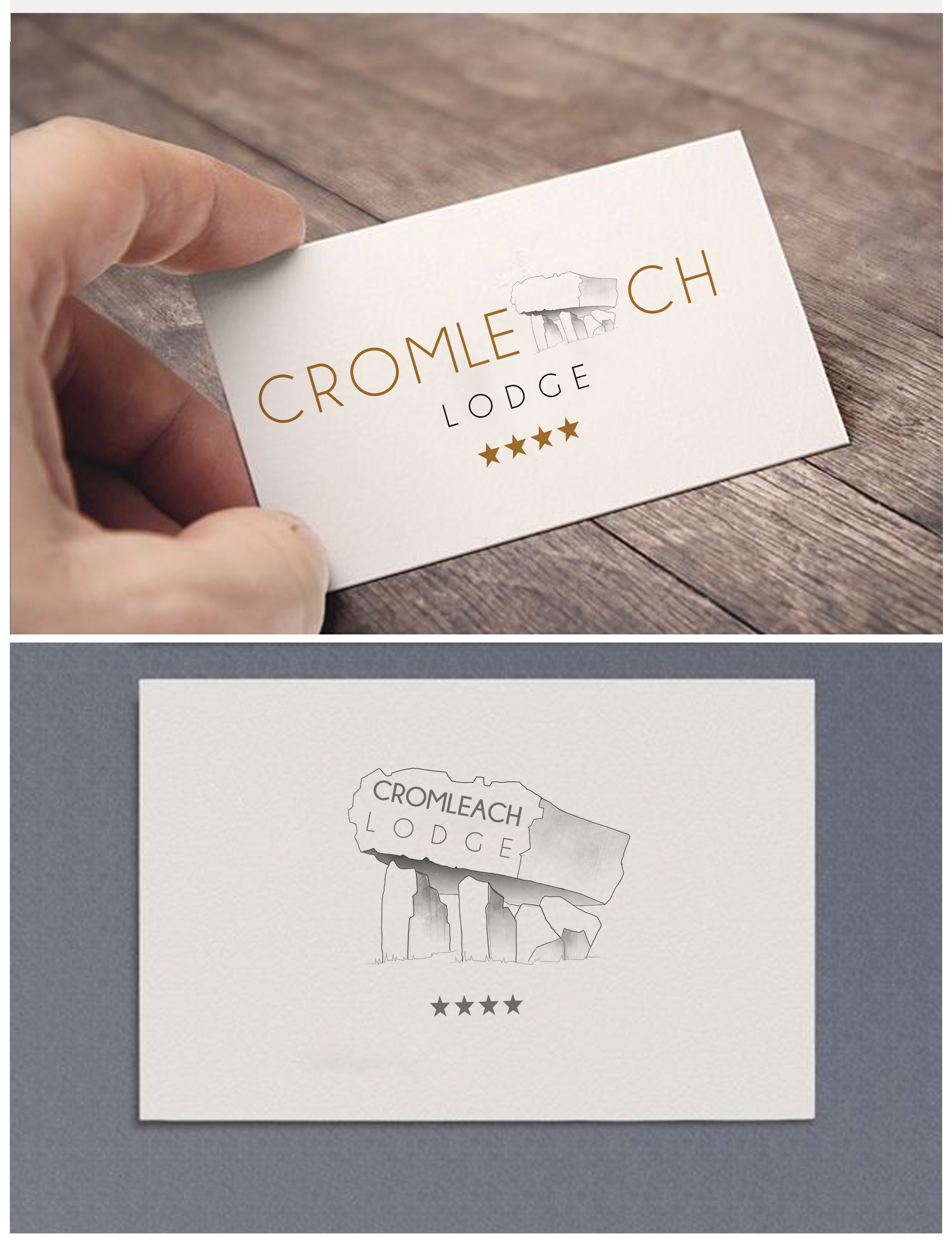 Cromleach lodge logo design