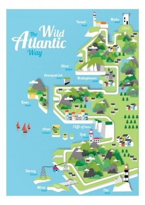 Wild Atlantic Way  - Art print by Gary Reddin